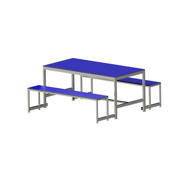 Mesas y asientos plegables for Banco para mesa de comedor